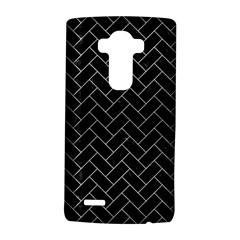 Brick2 Black Marble & Silver Brushed Metal Lg G4 Hardshell Case by trendistuff
