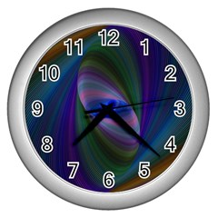 Eye Of The Galactic Storm Wall Clocks (silver)  by StuffOrSomething