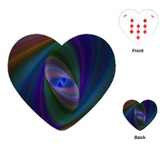 Eye Of The Galactic Storm Playing Cards (heart)  by StuffOrSomething