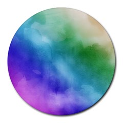 Rainbow Watercolor Round Mousepads by StuffOrSomething