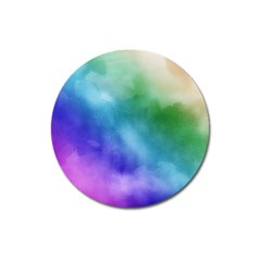 Rainbow Watercolor Magnet 3  (round) by StuffOrSomething