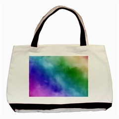Rainbow Watercolor Basic Tote Bag by StuffOrSomething