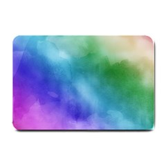 Rainbow Watercolor Small Doormat  by StuffOrSomething