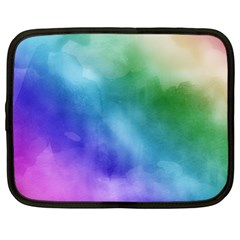 Rainbow Watercolor Netbook Case (large) by StuffOrSomething