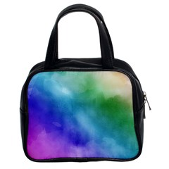 Rainbow Watercolor Classic Handbags (2 Sides) by StuffOrSomething