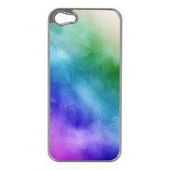 Rainbow Watercolor Apple Iphone 5 Case (silver) by StuffOrSomething