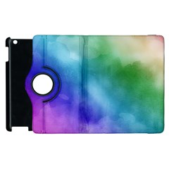 Rainbow Watercolor Apple Ipad 3/4 Flip 360 Case by StuffOrSomething