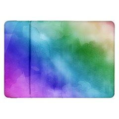 Rainbow Watercolor Samsung Galaxy Tab 8 9  P7300 Flip Case by StuffOrSomething