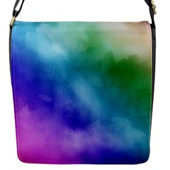 Rainbow Watercolor Flap Messenger Bag (s) by StuffOrSomething