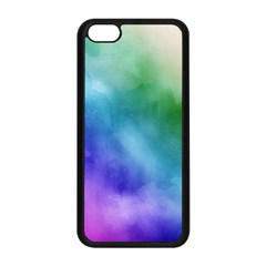 Rainbow Watercolor Apple Iphone 5c Seamless Case (black) by StuffOrSomething