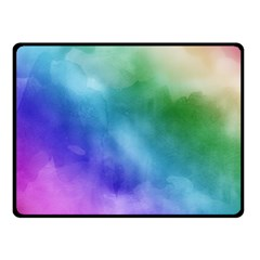 Rainbow Watercolor Double Sided Fleece Blanket (small)  by StuffOrSomething