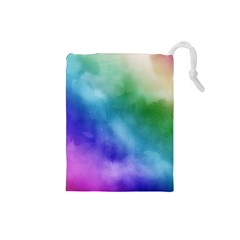 Rainbow Watercolor Drawstring Pouches (small)  by StuffOrSomething