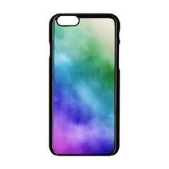 Rainbow Watercolor Apple Iphone 6/6s Black Enamel Case by StuffOrSomething