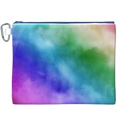 Rainbow Watercolor Canvas Cosmetic Bag (xxxl)  by StuffOrSomething