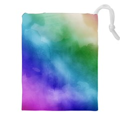 Rainbow Watercolor Drawstring Pouches (xxl) by StuffOrSomething