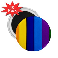 Rainbow Painting On Wood 2 25  Magnets (10 Pack)  by StuffOrSomething