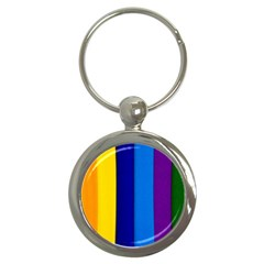 Rainbow Painting On Wood Key Chains (round)  by StuffOrSomething