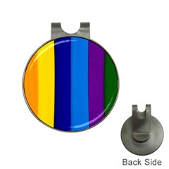 Rainbow Painting On Wood Hat Clips With Golf Markers by StuffOrSomething
