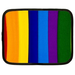 Rainbow Painting On Wood Netbook Case (XXL)  by StuffOrSomething