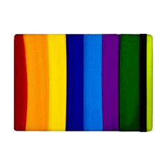 Rainbow Painting On Wood Apple Ipad Mini Flip Case by StuffOrSomething