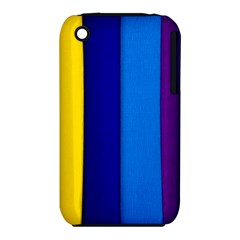 Rainbow Painting On Wood Apple iPhone 3G/3GS Hardshell Case (PC+Silicone) by StuffOrSomething