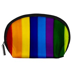 Rainbow Painting On Wood Accessory Pouches (large)  by StuffOrSomething