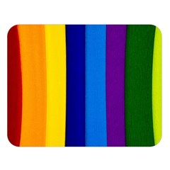 Rainbow Painting On Wood Double Sided Flano Blanket (large)  by StuffOrSomething