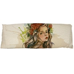 Beauty Of A Woman In Watercolor Style Body Pillow Case Dakimakura (two Sides) by TastefulDesigns