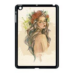 Beauty Of A Woman In Watercolor Style Apple Ipad Mini Case (black) by TastefulDesigns