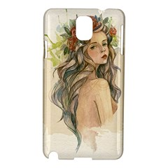 Beauty Of A Woman In Watercolor Style Samsung Galaxy Note 3 N9005 Hardshell Case by TastefulDesigns