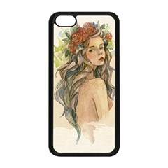 Beauty Of A Woman In Watercolor Style Apple Iphone 5c Seamless Case (black) by TastefulDesigns