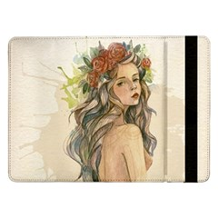 Beauty Of A Woman In Watercolor Style Samsung Galaxy Tab Pro 12 2  Flip Case by TastefulDesigns