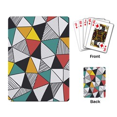 Colorful Geometric Triangles Pattern  Playing Card by TastefulDesigns