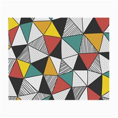 Colorful Geometric Triangles Pattern  Small Glasses Cloth (2 Side) by TastefulDesigns