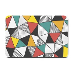 Colorful Geometric Triangles Pattern  Small Doormat