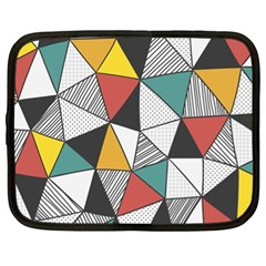 Colorful Geometric Triangles Pattern  Netbook Case (xl)  by TastefulDesigns