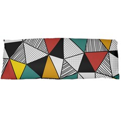Colorful Geometric Triangles Pattern  Body Pillow Case Dakimakura (two Sides) by TastefulDesigns