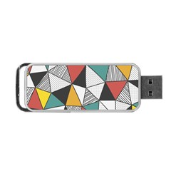 Colorful Geometric Triangles Pattern  Portable Usb Flash (one Side) by TastefulDesigns