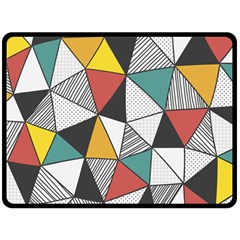 Colorful Geometric Triangles Pattern  Double Sided Fleece Blanket (large)  by TastefulDesigns