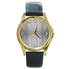 BRK1 BK MARBLE SILVER (R) Round Gold Metal Watch by trendistuff