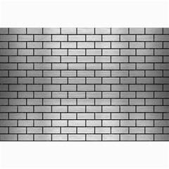 Brick1 Black Marble & Silver Brushed Metal (r) Collage 12  X 18  by trendistuff