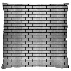 Brick1 Black Marble & Silver Brushed Metal (r) Large Cushion Case (two Sides) by trendistuff