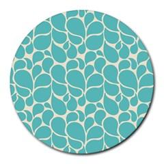 Blue Abstract Water Drops Pattern Round Mousepads by TastefulDesigns