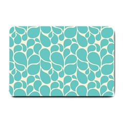 Blue Abstract Water Drops Pattern Small Doormat