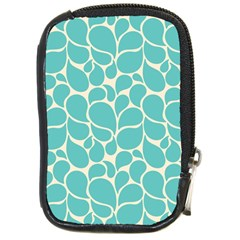 Blue Abstract Water Drops Pattern Compact Camera Cases by TastefulDesigns