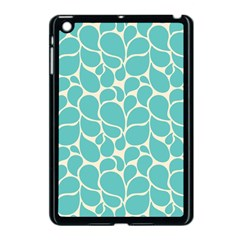Blue Abstract Water Drops Pattern Apple Ipad Mini Case (black) by TastefulDesigns