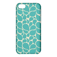 Blue Abstract Water Drops Pattern Apple Iphone 5c Hardshell Case by TastefulDesigns