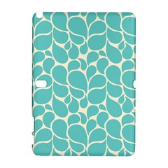 Blue Abstract Water Drops Pattern Samsung Galaxy Note 10.1 (P600) Hardshell Case by TastefulDesigns