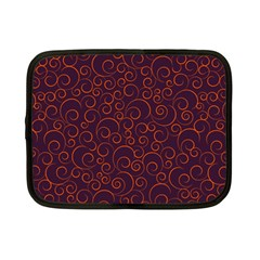 Seamless Orange Ornaments Pattern Netbook Case (small)  by TastefulDesigns
