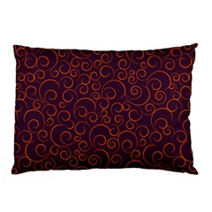 Seamless Orange Ornaments Pattern Pillow Case (two Sides) by TastefulDesigns